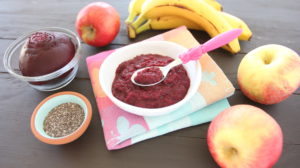 Beet Apple Banana Chia Puree +6M