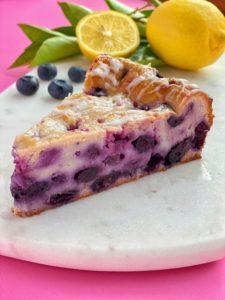 The Best Indulgent Fruity Blueberry Lemon Cake