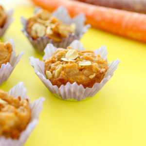 Sunny Carrot Oats Mini Muffins +6M - Breakfast with love!