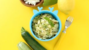 Easiest Zucchini Pasta with Feta & Balsamic. Happy Family Meal.